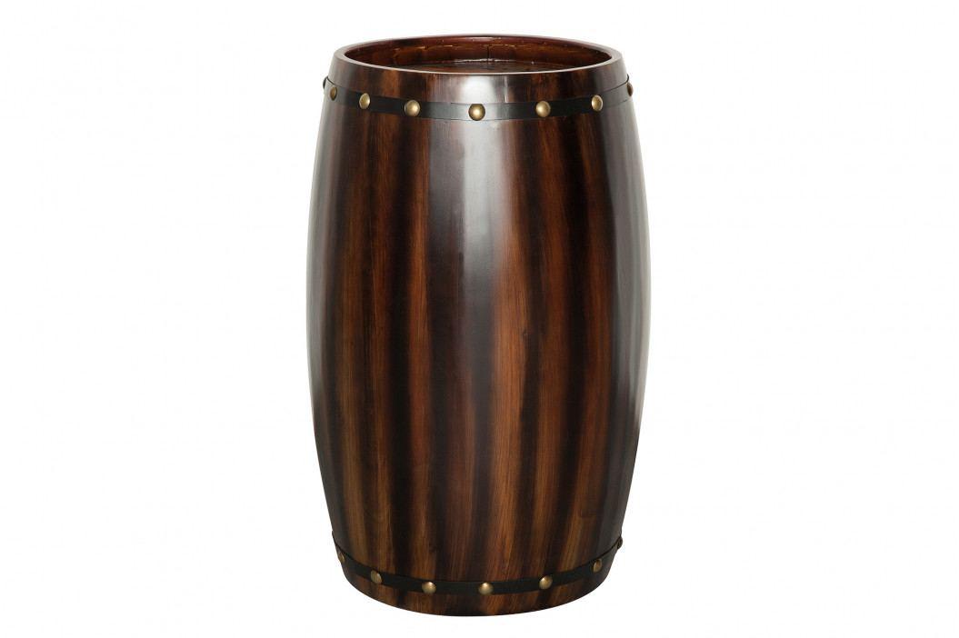 Bighome - Regál na víno CASK 64 cm - kávová