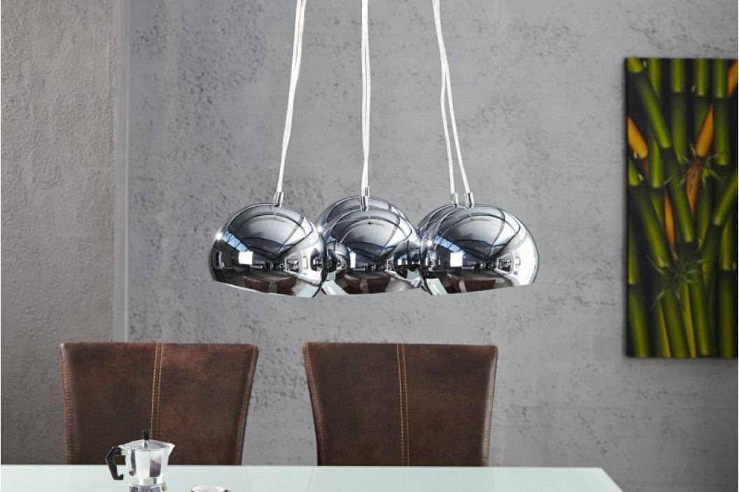 Visiaca lampa VIRGO M chróm 115 cm - strieborná