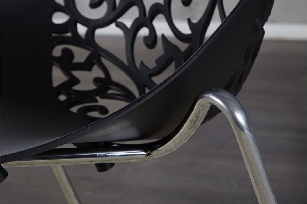 Stolička FLORA BLACK - čierna