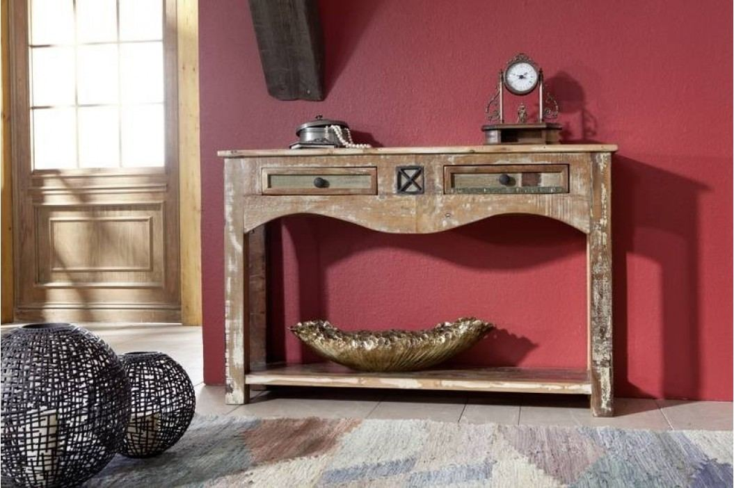 OLDTIME konzola lakované staré indické drevo