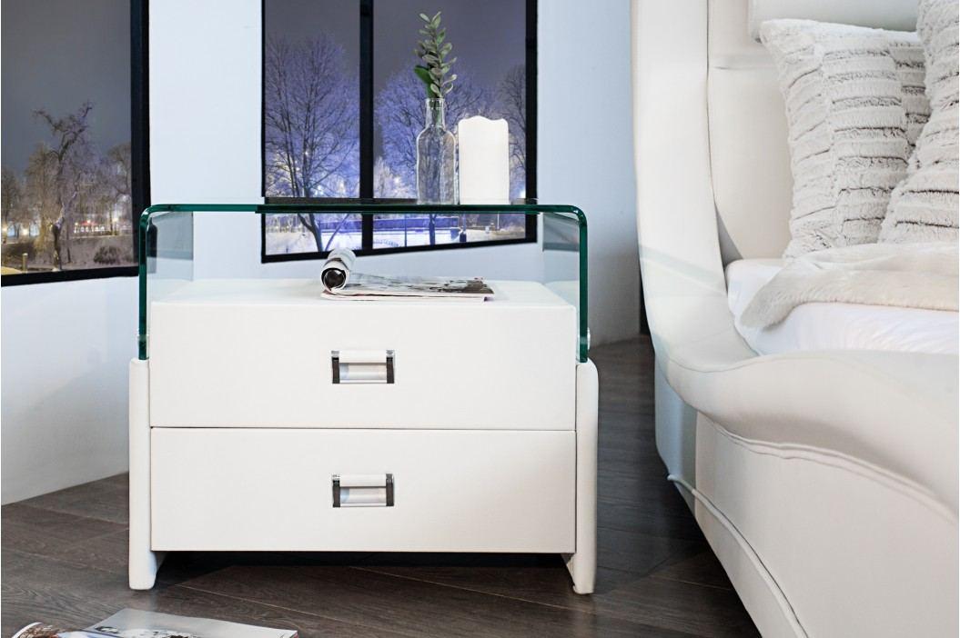Nočný stolík MANHATAN - biela