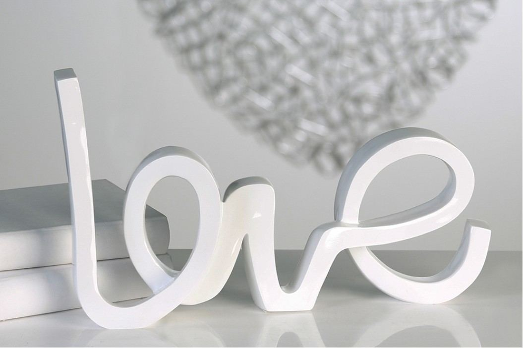 Dekorácia LOVE - biela