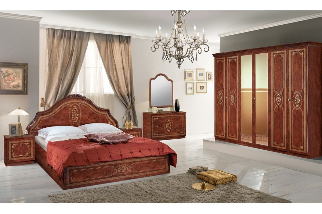 Spálňa FLORELLA - hnedá