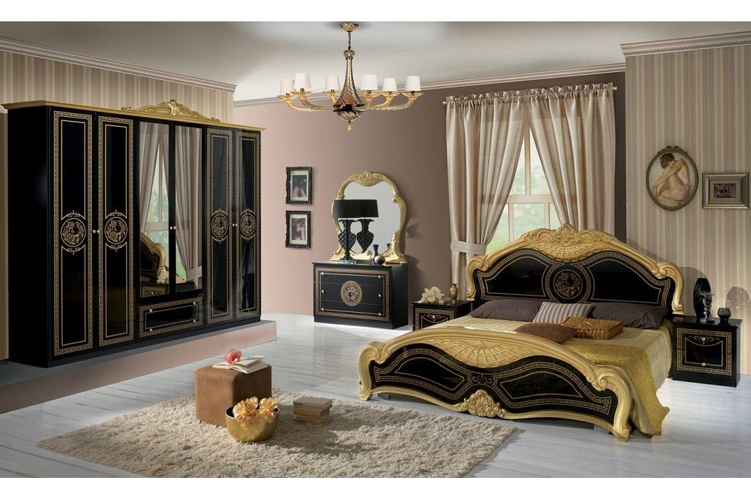 Spálňa LAURI - čierna, zlatá