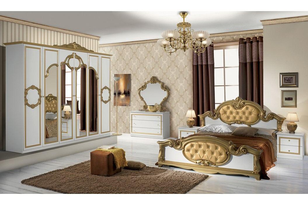 Spálňa BAROK BIANCO- zlatá, biela