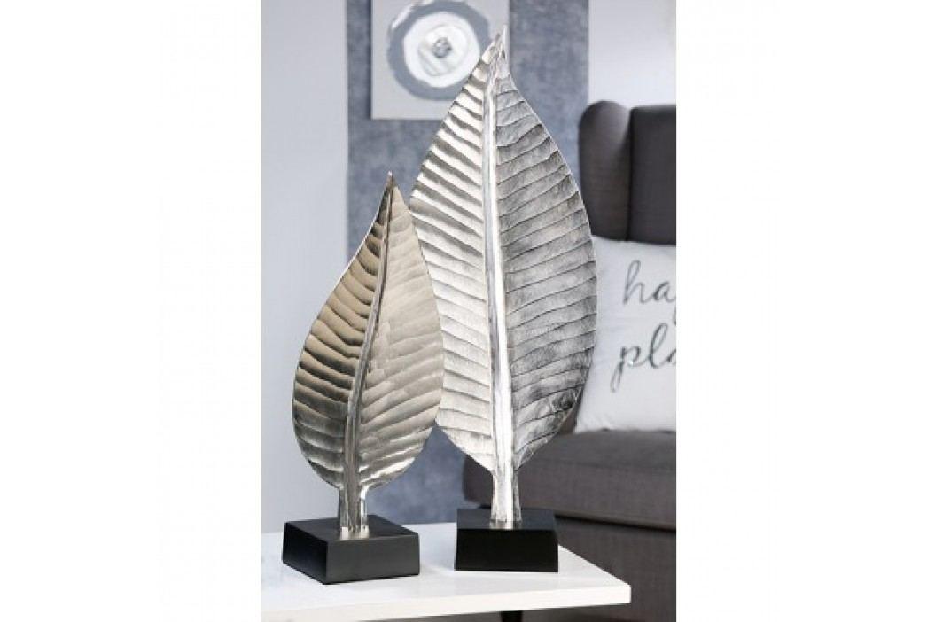 Ozdobná socha BLETT, 77 cm - strieborná