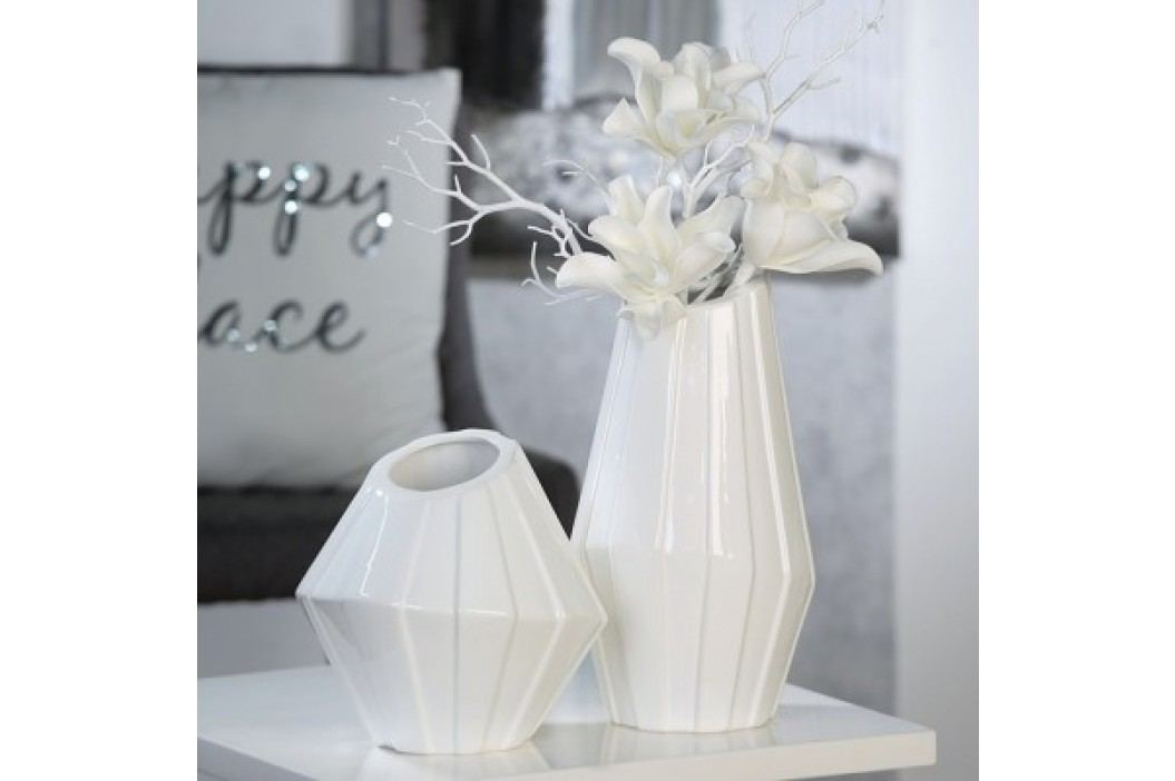 Váza GERO, 23 cm - biela