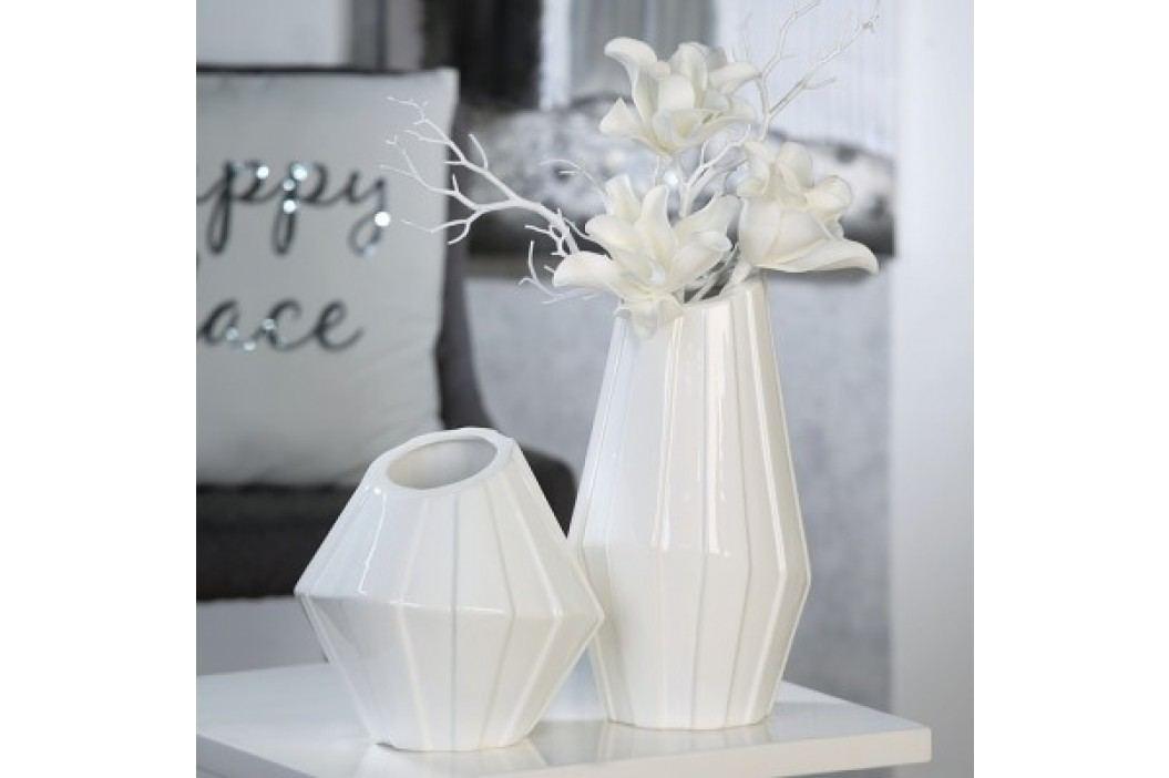 Váza GERO, 33 cm - biela