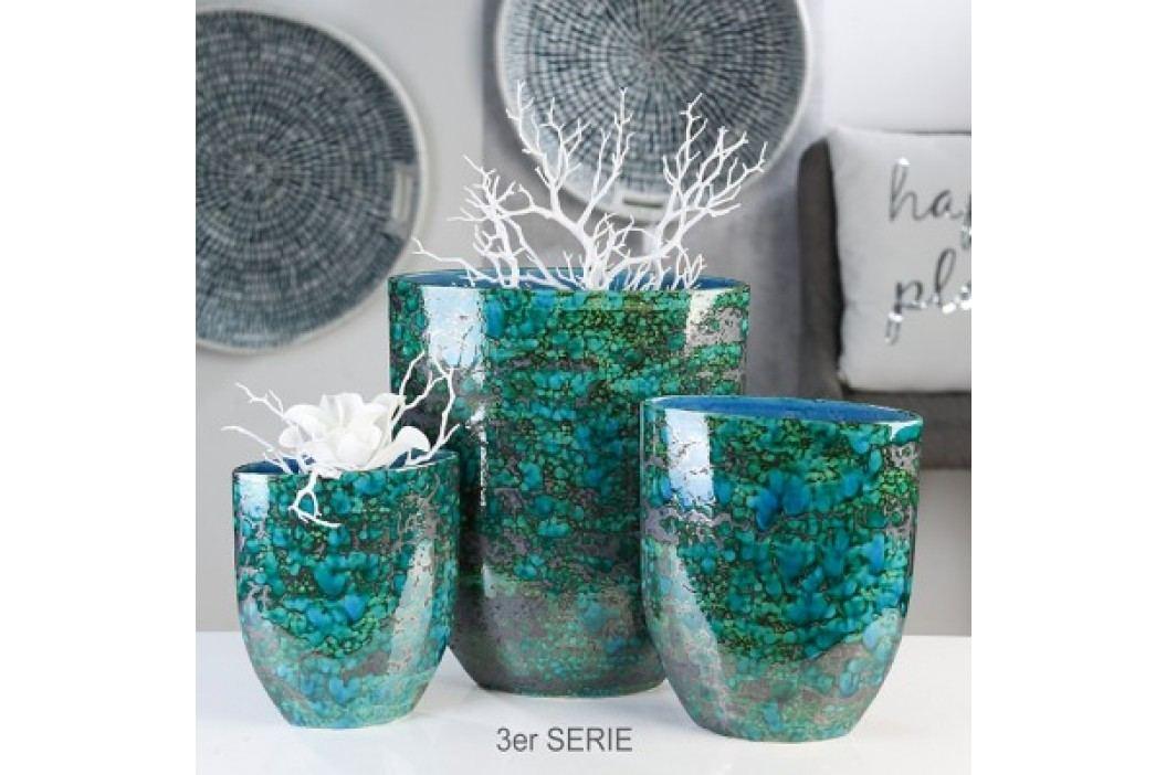 Váza AZUR, 40 cm - modrá
