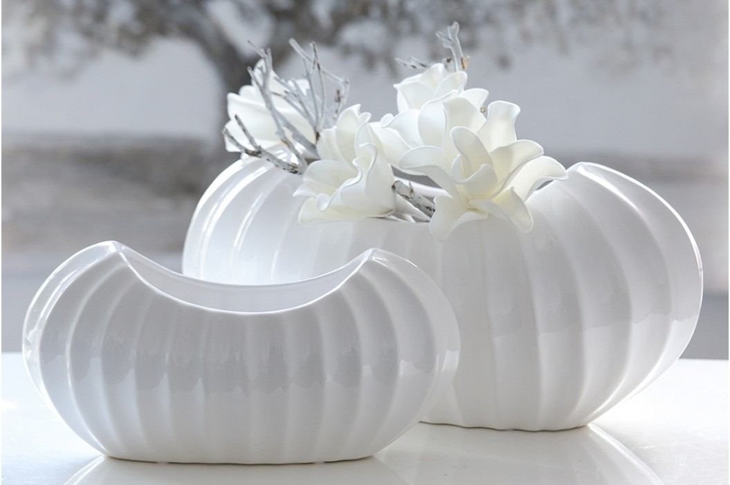 Váza CROSE 22 cm - biela