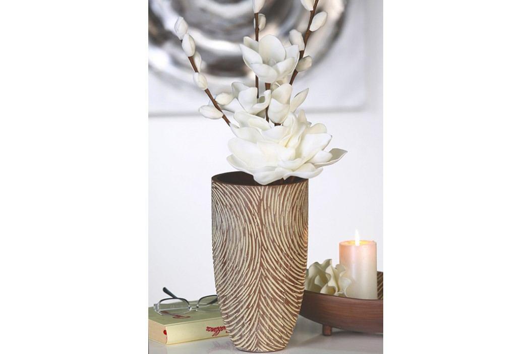 Váza RATAR 30 cm - hnedá, krémová