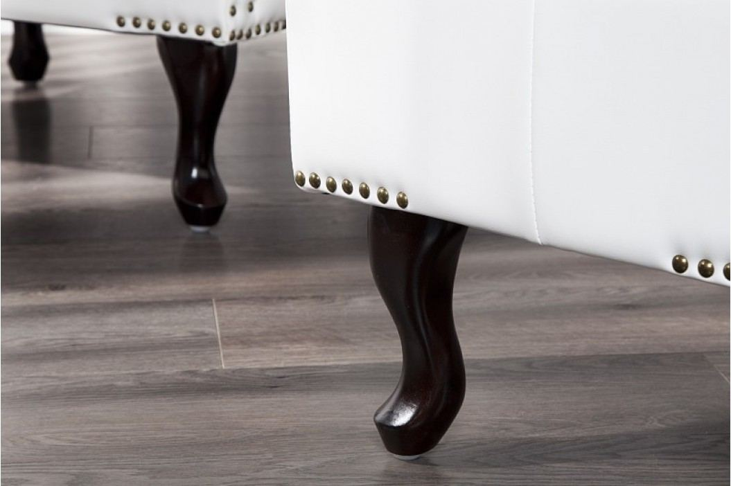 Taburetka CHESTERFIELD STOOL WHITE - biela