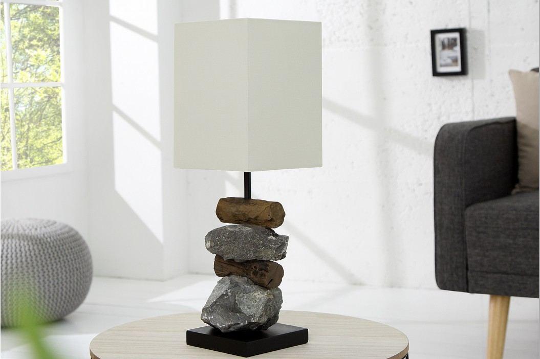 Lampa ELOMENTS - biela, prírodná