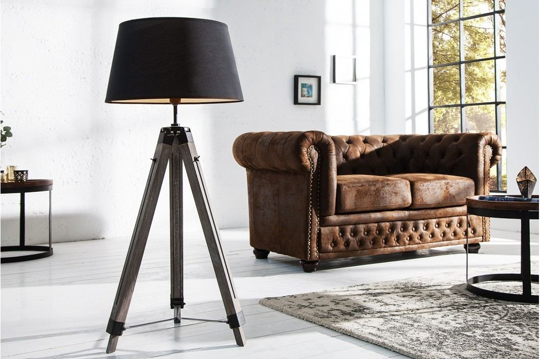 Stojáca lampa SIL, 100-145 cm - čierna