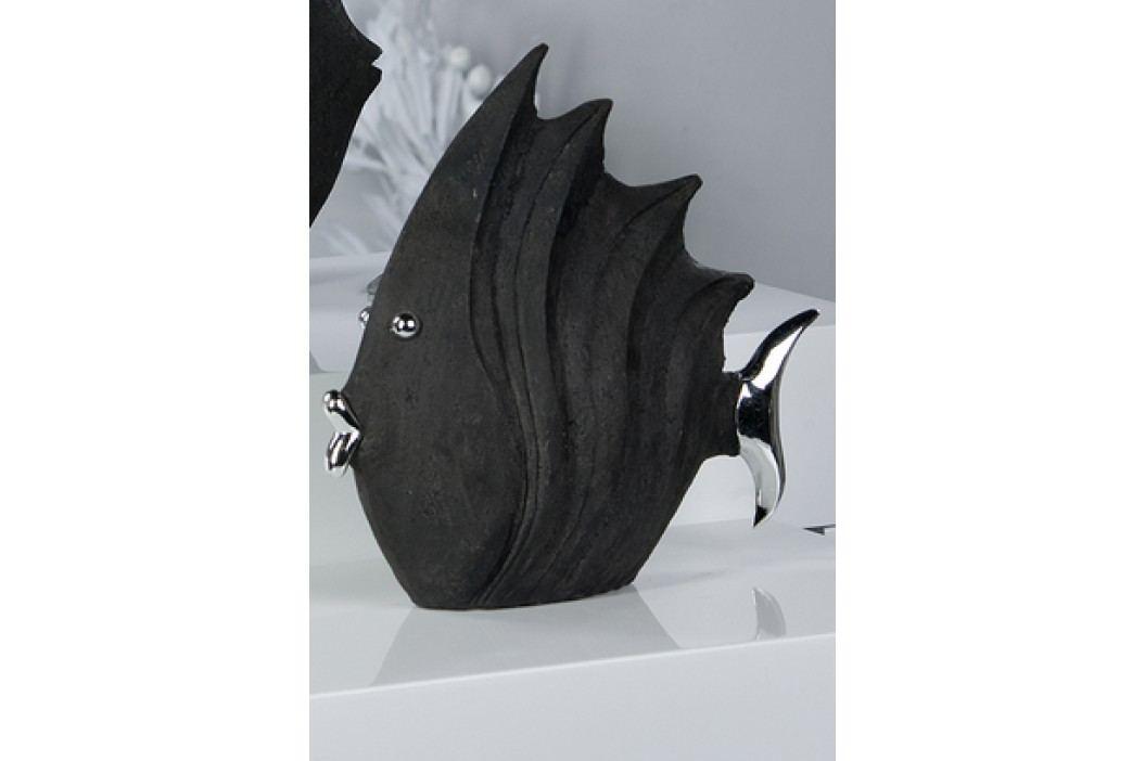 Dizajnová figúrka FISH 26 cm - čierna