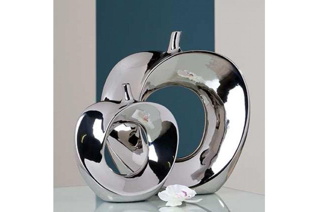 Keramická váza APPLE 37 cm - strieborná