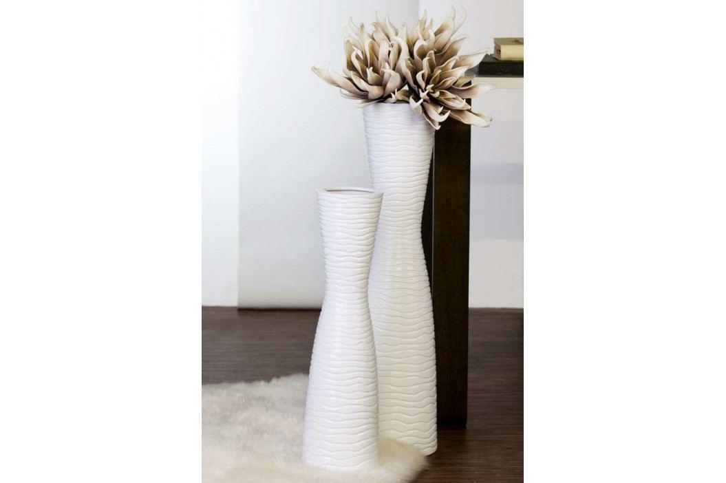 Keramická váza TAMERA 58 cm - biela