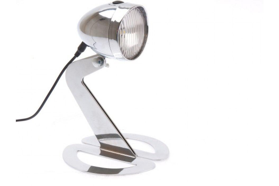 Stolná lampa BIKELIGHT strieborná