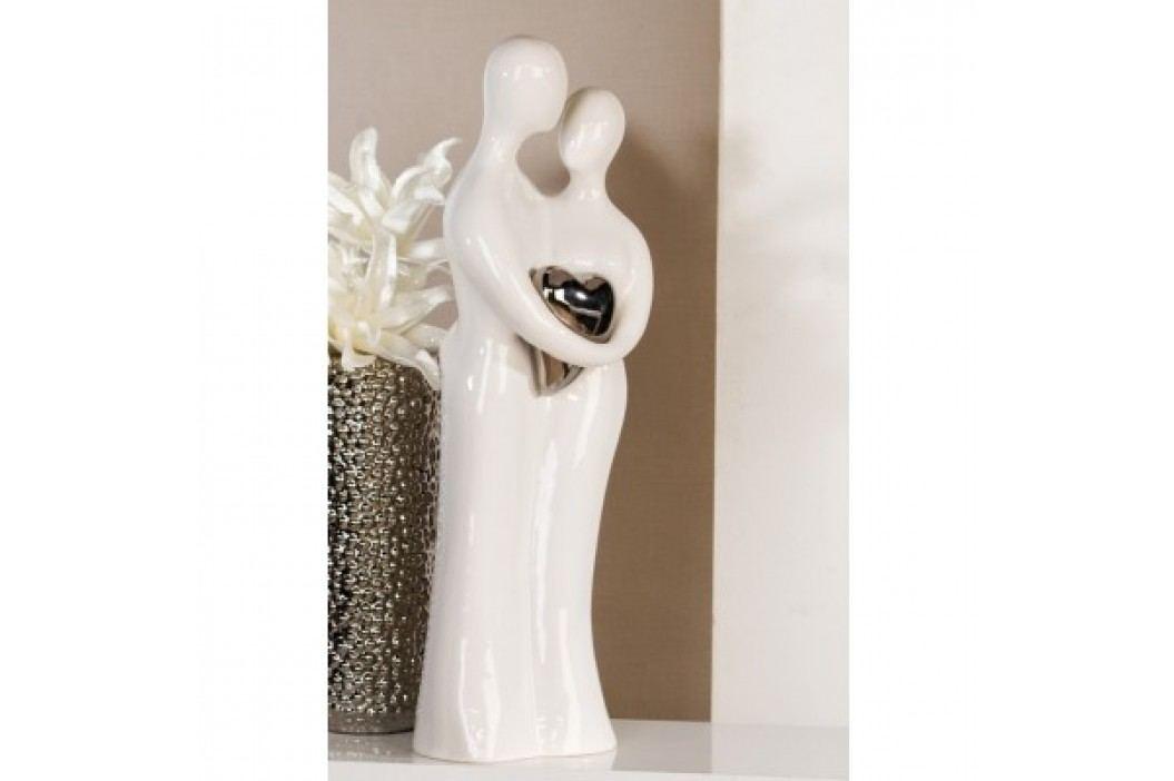 Dekoratívna soška PAIR - biela