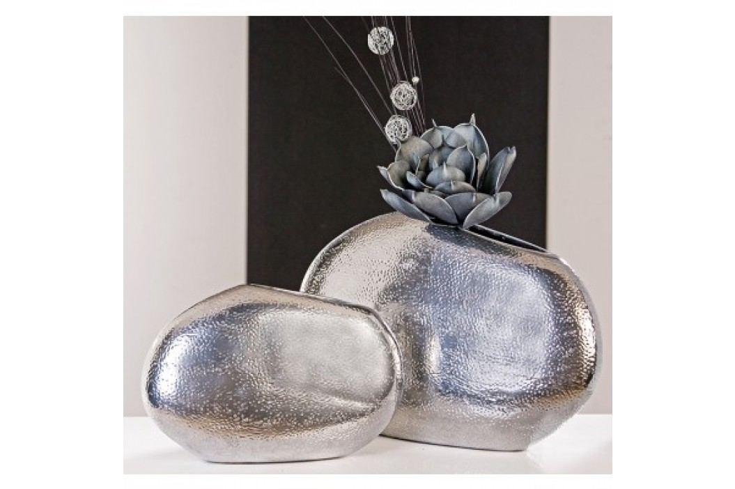 Dekoratívna váza PEDRO 29 cm - platinová