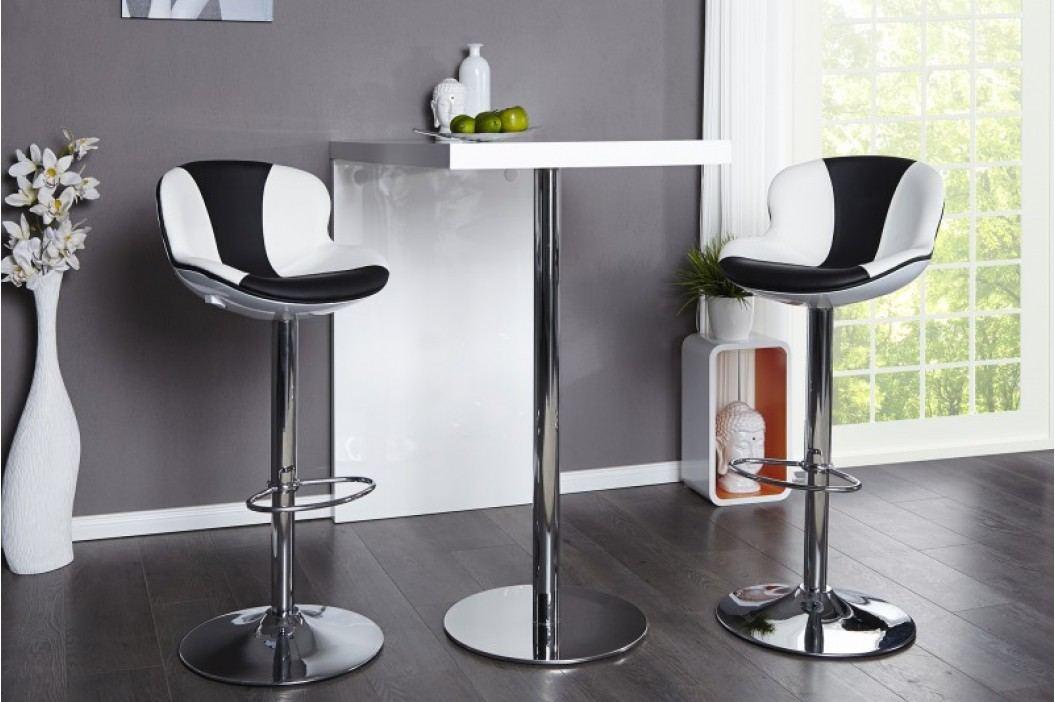 Barová stolička SPEEDCHAIR BW - biela/čierna