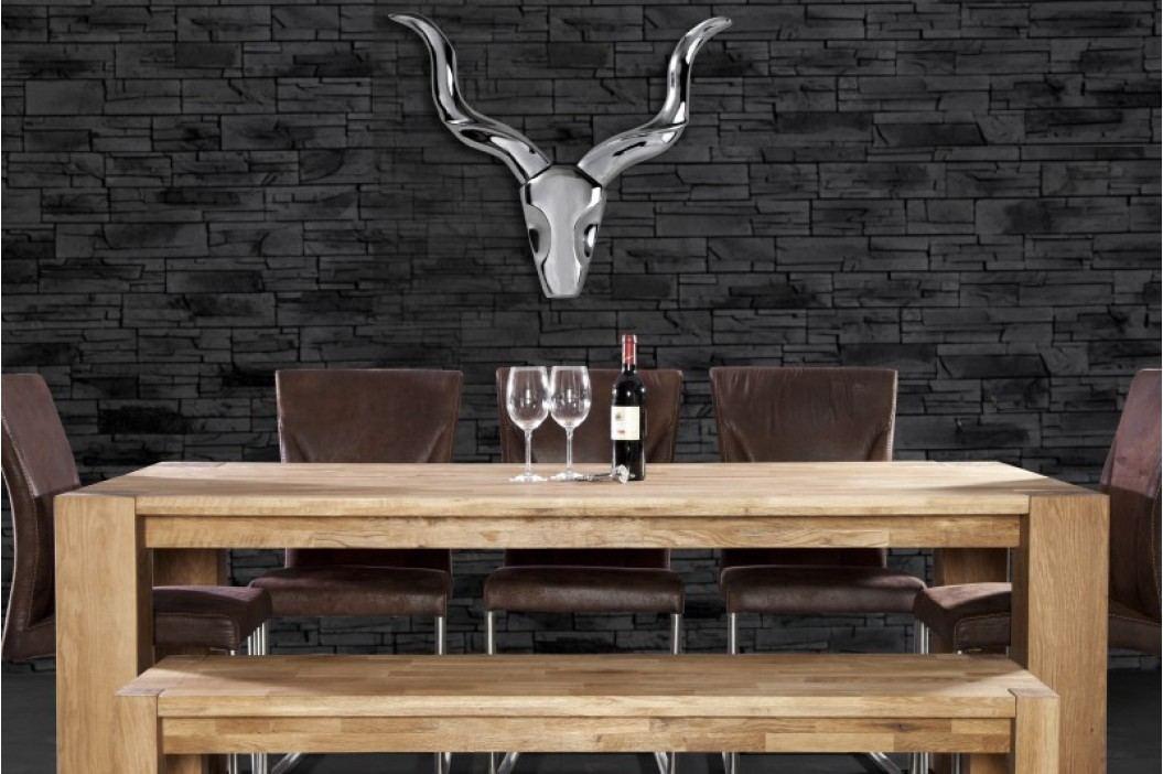 Dekorácia na stenu ROCKS - strieborná