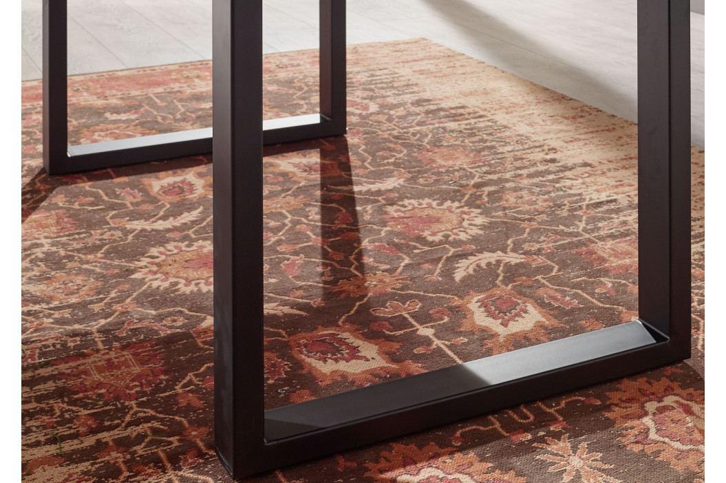Masiv24 - METALL Jedálenský stôl s tmavošedými nohami 120x90, akácia, sivá