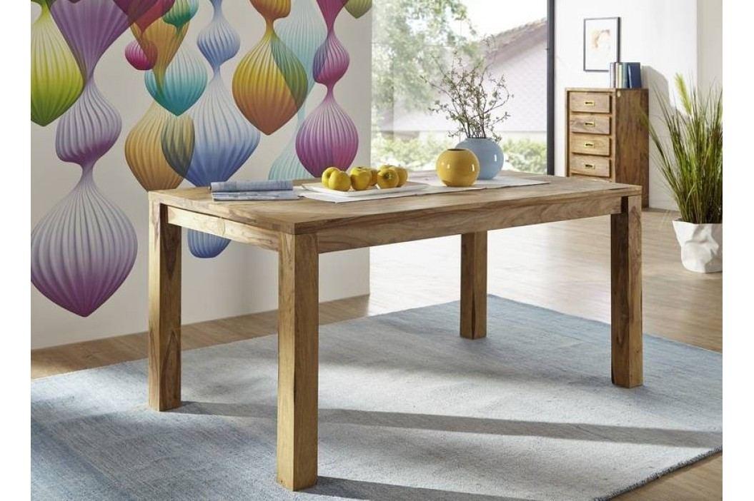 LIGHT WOOD Sheesham jedálenský stôl 160x90, masívne palisandrové drevo
