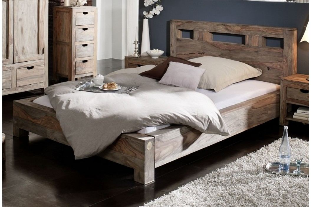 GREY WOOD Masívny indický palisander, posteľ 160x200