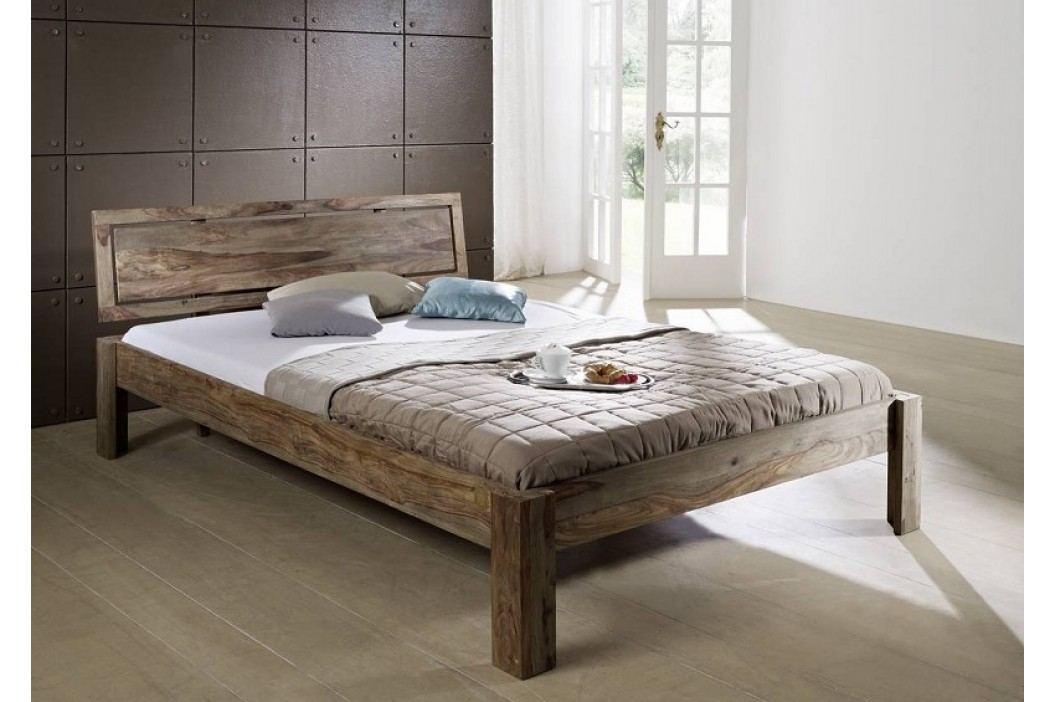 GREY WOOD Sheesham posteľ 140x200, masívny palisander