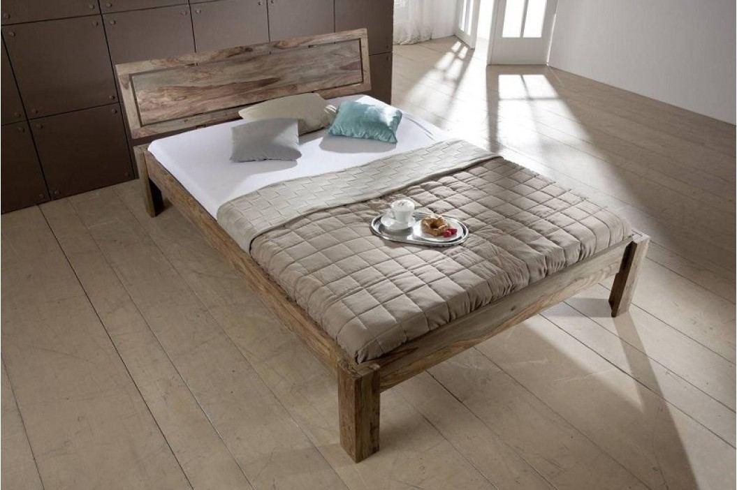 GREY WOOD Sheesham posteľ 200x200, masívny palisander