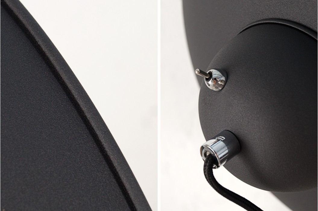 Stojaca lampa STODY 160 cm - čierna, strieborná