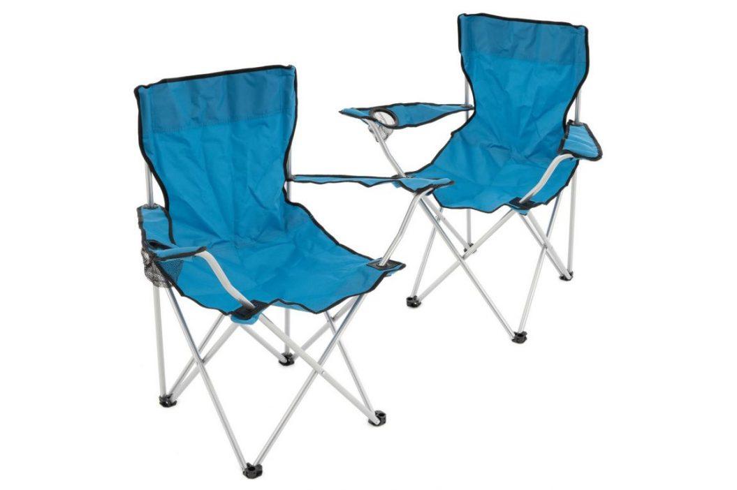 Set skladacích stoličiek - modrá