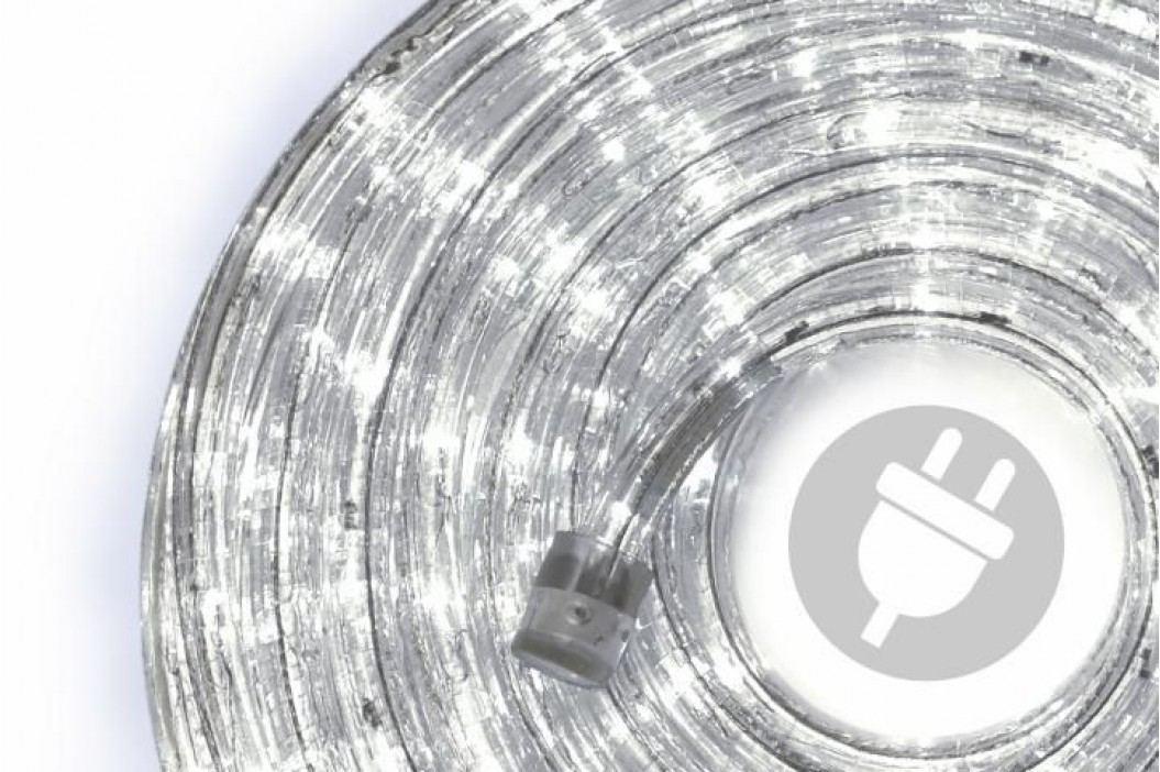 LED svetelný kábel 10 m - studená biela, 240 diód