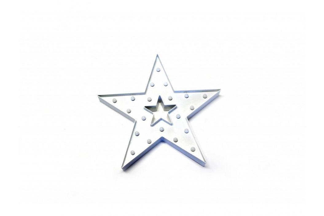 Hviezda s LED svetlom 38x38cm