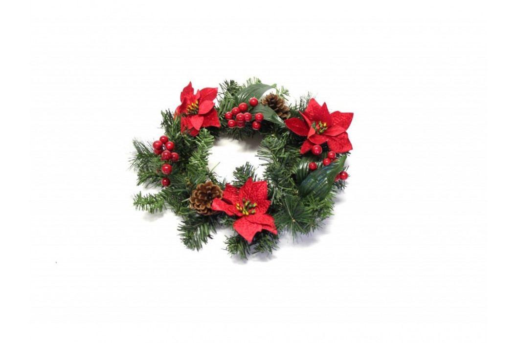 Venček vianočný 30cm červený