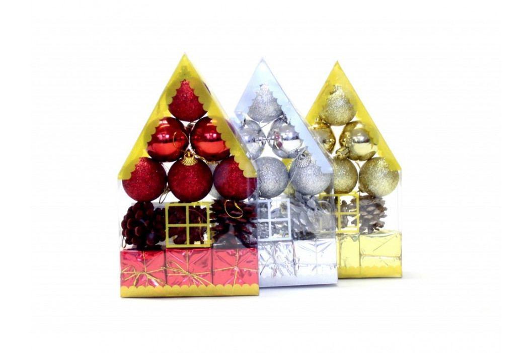 Dekorácia vianočná s/12ks mix