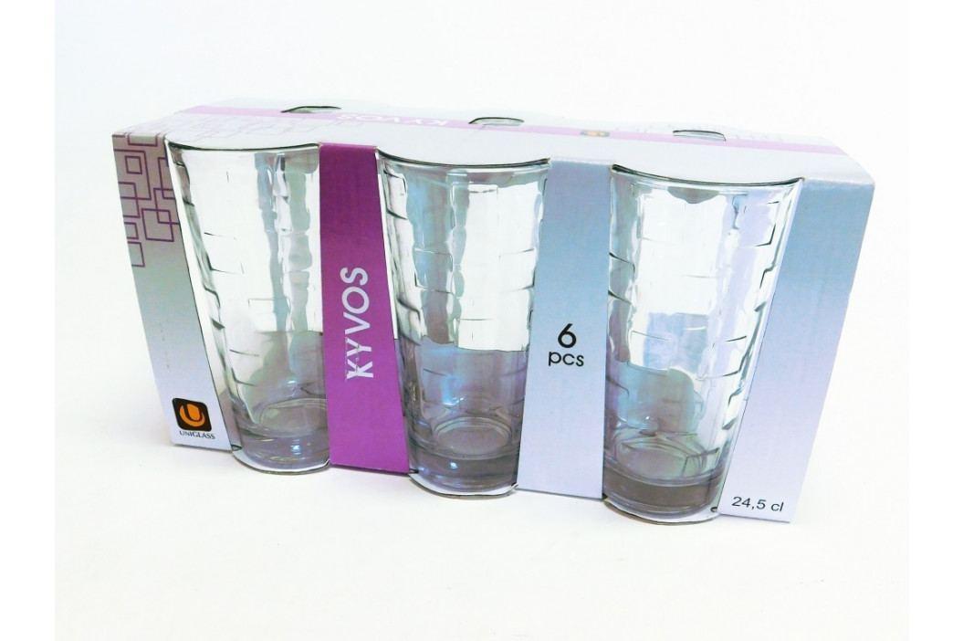 Pohár sklo - voda 6 ks - KYVOS