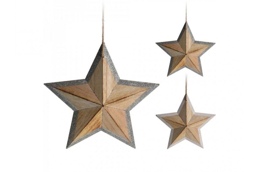 Hviezda GLITTER 29cm 2mix