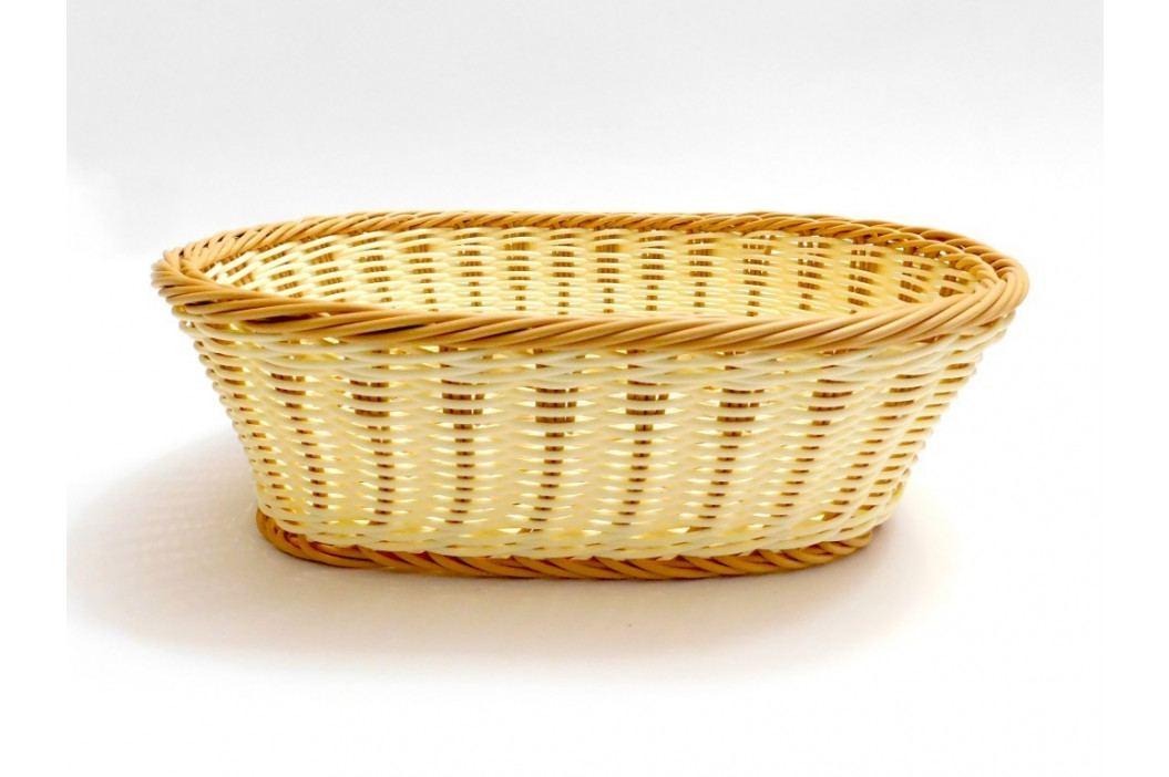 Košík pletený oválny veľký pla