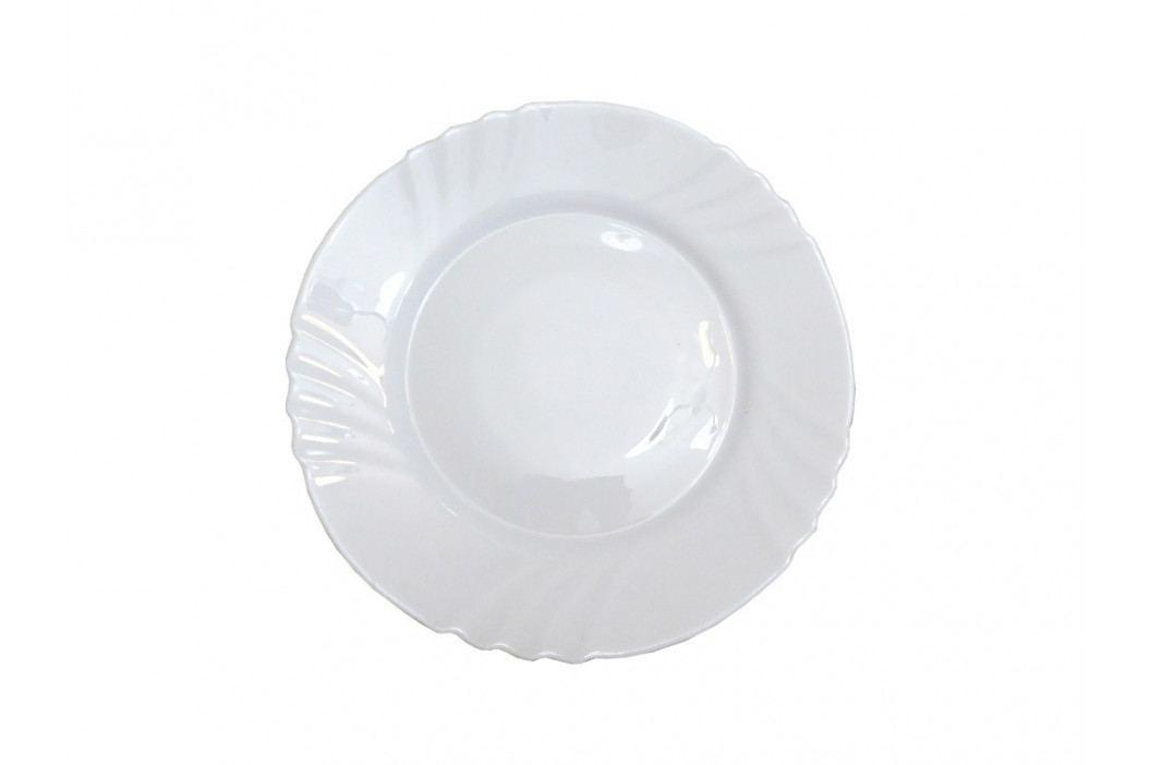 Tanier okrúhly plytký sklo