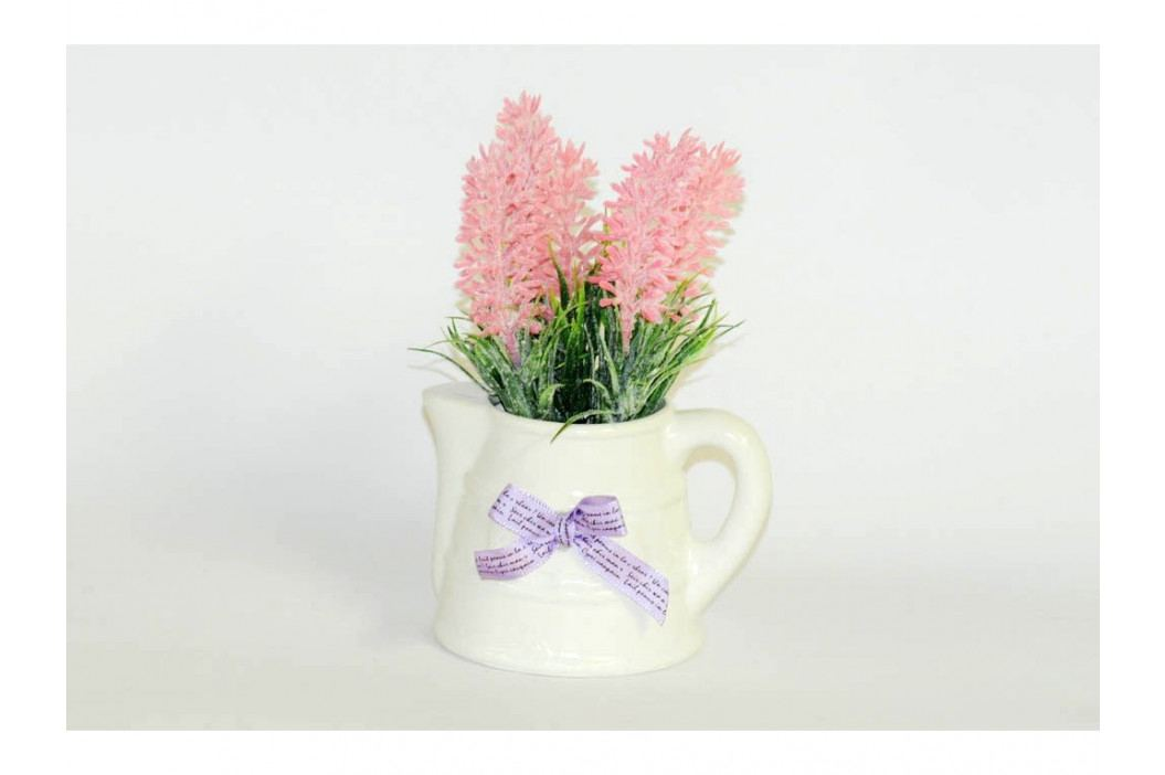 Levanduľa v keramickom kvetiná