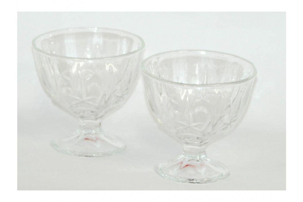 Sada pohárov na zmrzlinu sklo