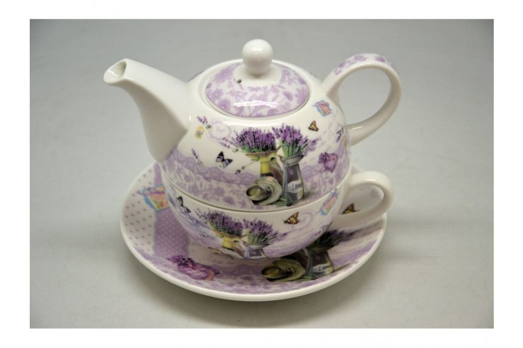 Čajník+šálka levanduľa