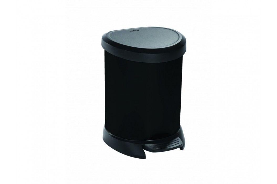 Odpadkový kôš Decobin s pedálom, 20 l - strieborný