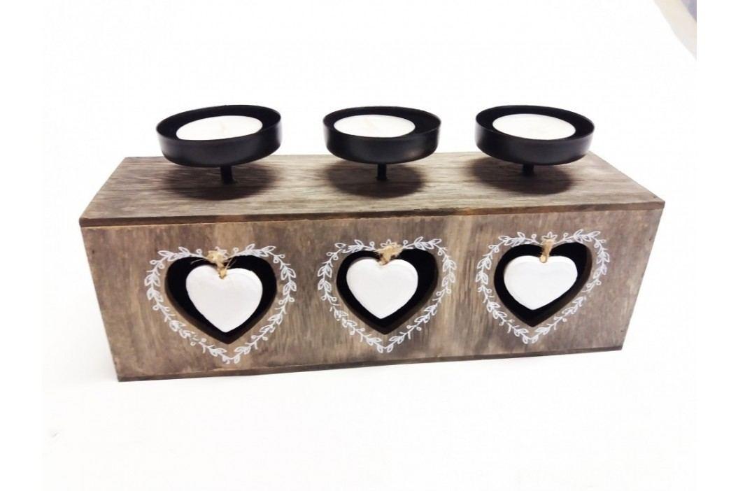 Svietnik na 3 čajové sviečky