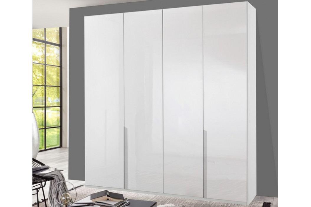 New York D, 180 cm, biela / biely lesk