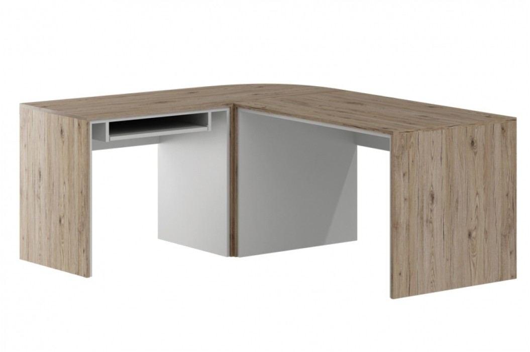 Rohový písací stôl of-bn - systém offi
