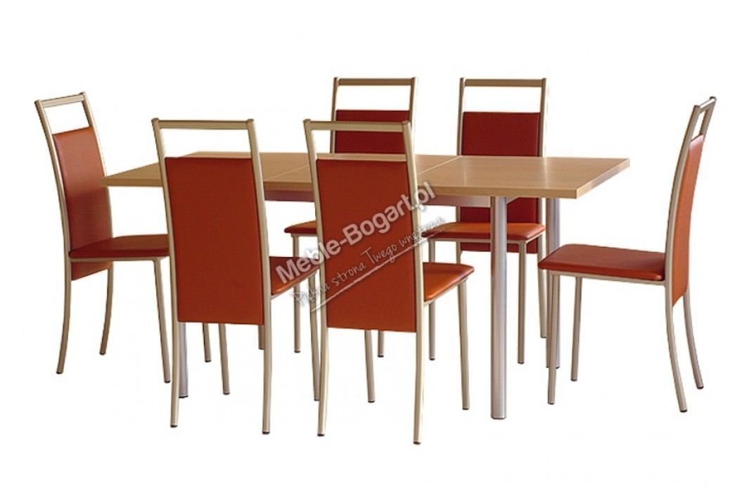 Komplet stôl metis max + 4 stoličky neptun plus