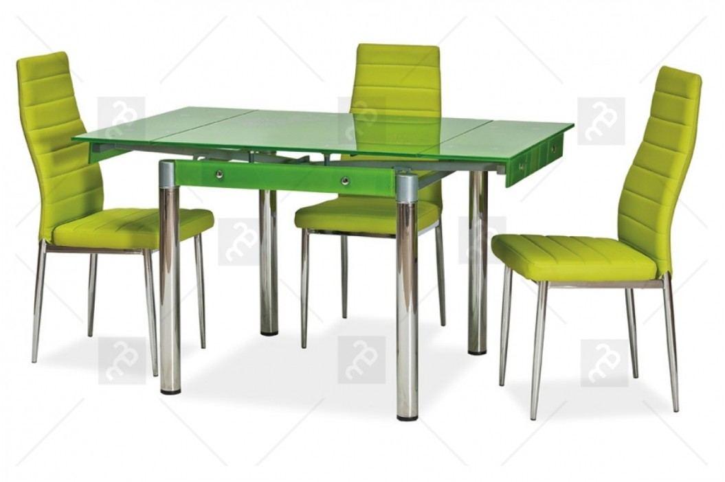 Komplet do jedálne - sklenený stôl gd-082 + 4 stoličky h-261